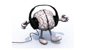 rôle d'un audiologiste avec cerveau avec ecouteur