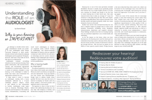 image of Orleans Audiology Magazine article
