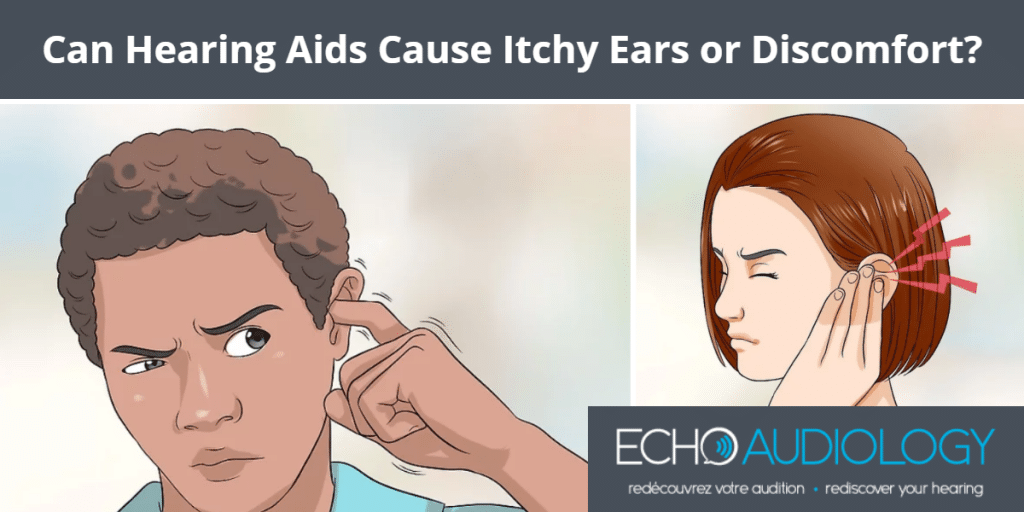 image of hearing aids causing itchy ears and ear discomfort