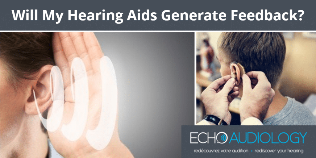 Image of hearing aid generating feedback