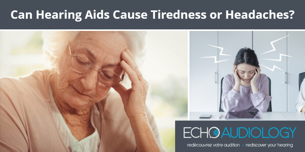 Image of someone who's hearing aids are causing tiredness & headache